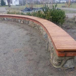 Drewniane siedzenie